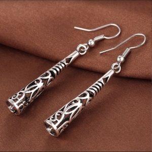 .925 Sterling Silver Bohemian Tassel Earrings